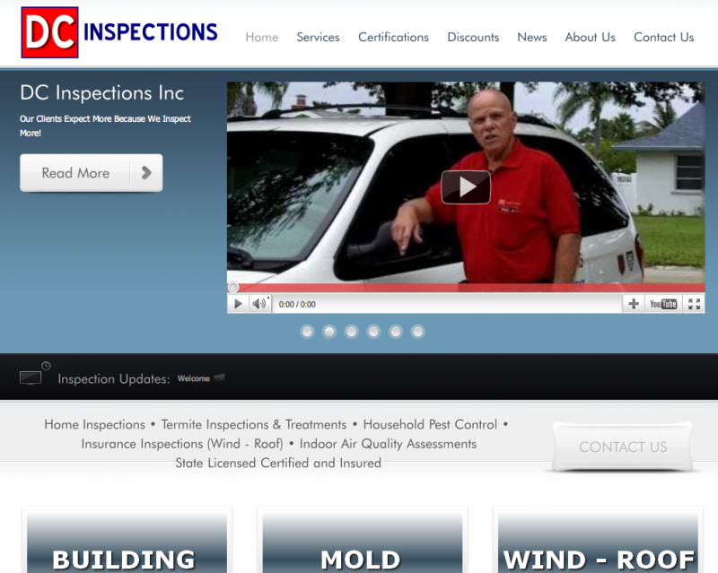Website Design Company - Home Inspector Site