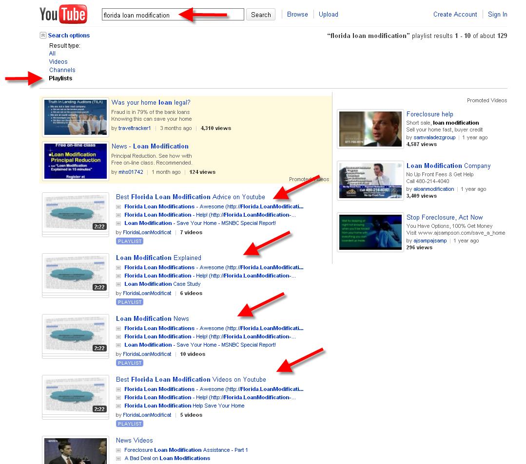 Florida Internet Marketing - Video Marketing Playlist